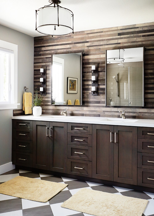 espresso bathroom vanity cabinet white countertops