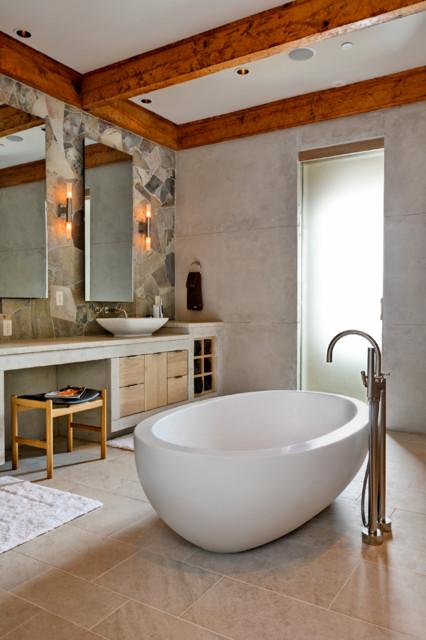 A Tasteful Modern Mountain Bath Rustic Bathroom