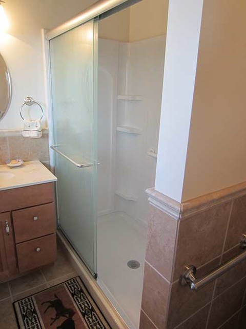 A tight space enhanced for Tight space bathroom designs