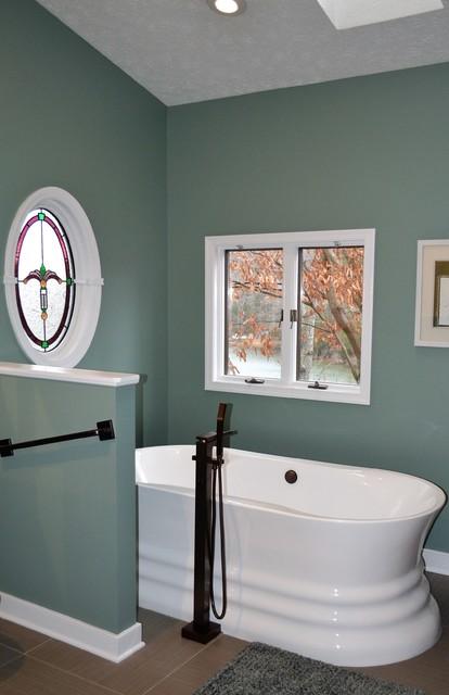 A Unique Bathroom Remodel Transitional Bathroom