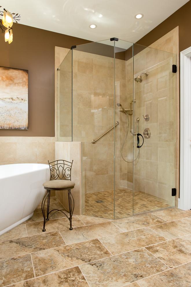A Warm Cincinnati Bathroom Remodel - Traditional ...