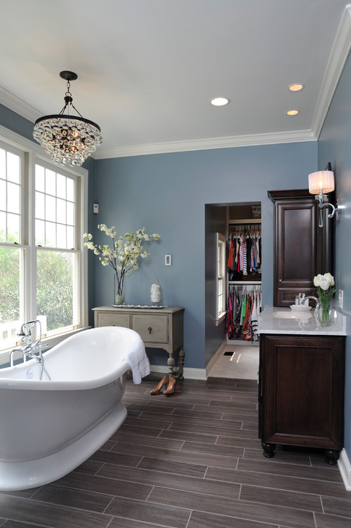 traditional bathroom Bathroom Lighting Ideas