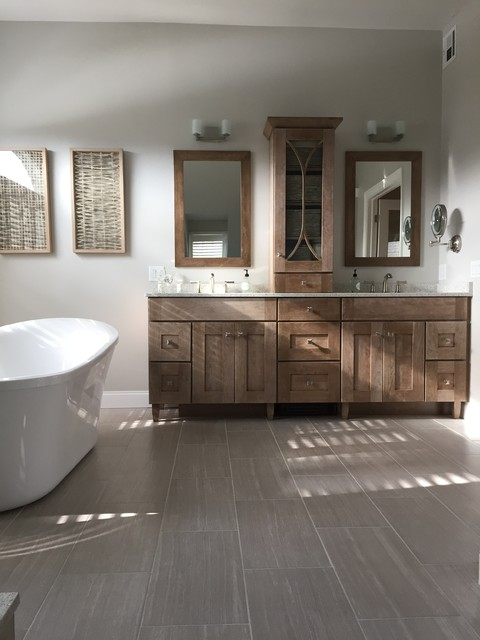 A Wow Master Bathroom Remodel Transitional Bathroom Other By Lowes Of West Bridgewater Ma