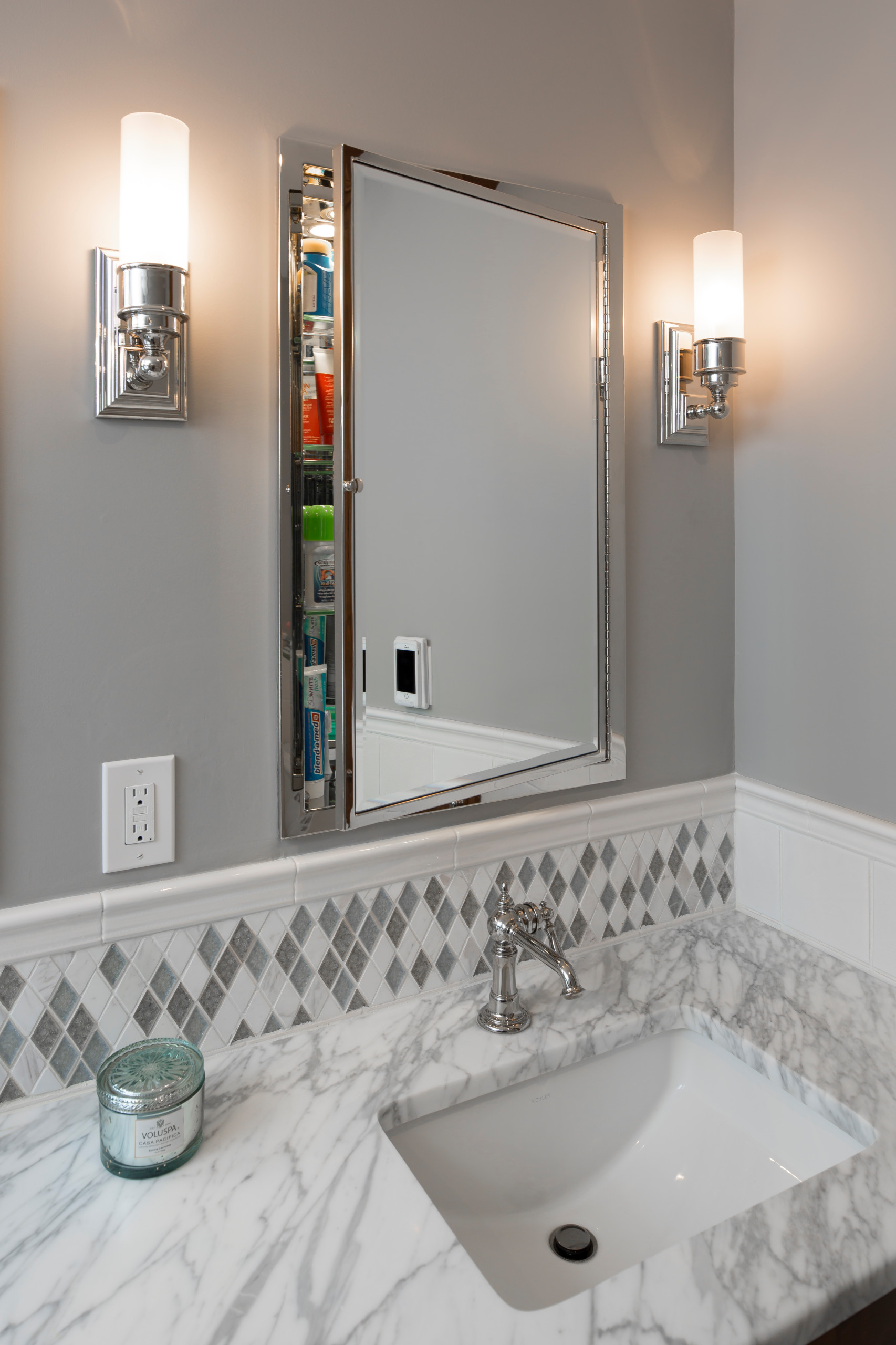 Abramson's Traditional Marble Master Bath