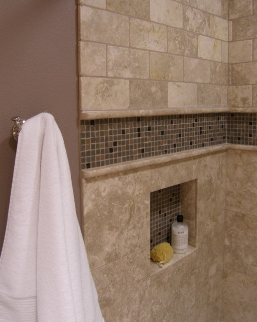 Bathroom Tile Design: Accent Tiled Niche