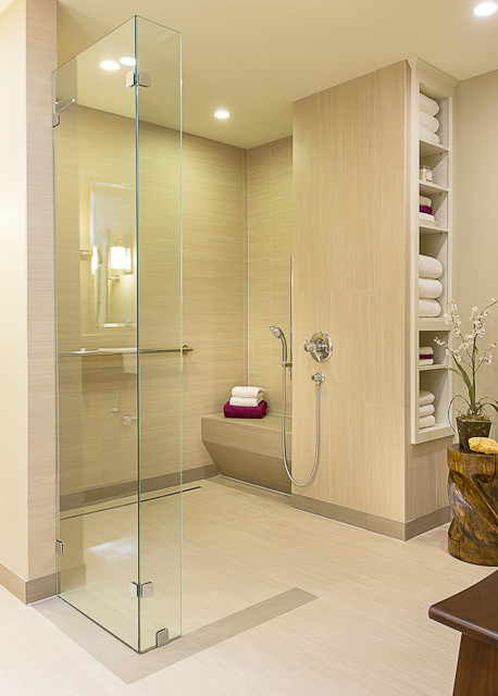 Accessible Barrier Free Aging In Place Universal Design Bathroom Remodel Modern Bathroom