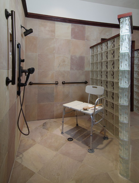Handicap Bathroom Remodel Enchanting Accessible Bathroom Remodel  Traditional  Bathroom  Houston . Design Inspiration