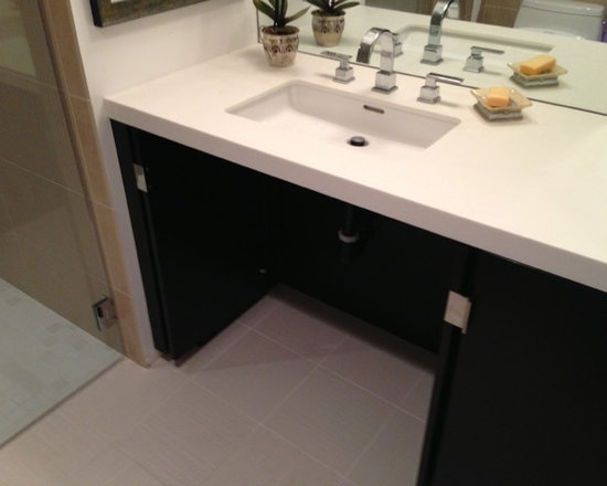 Handicap accessible vanity home design ideas pictures remodel and decor for Wheelchair accessible sink bathroom