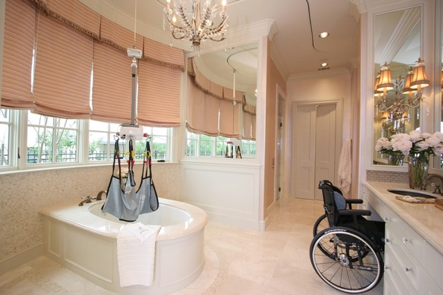 Accessible Master Bath traditional-bathroom