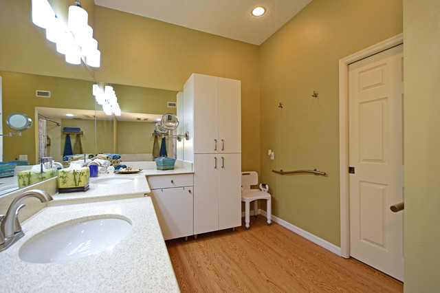 Wheelchair Accessible Master Bath Sarasota Transitional Bathroom Tam