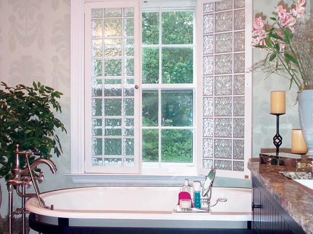 Acrylic Block Windows Traditional Bathroom Other
