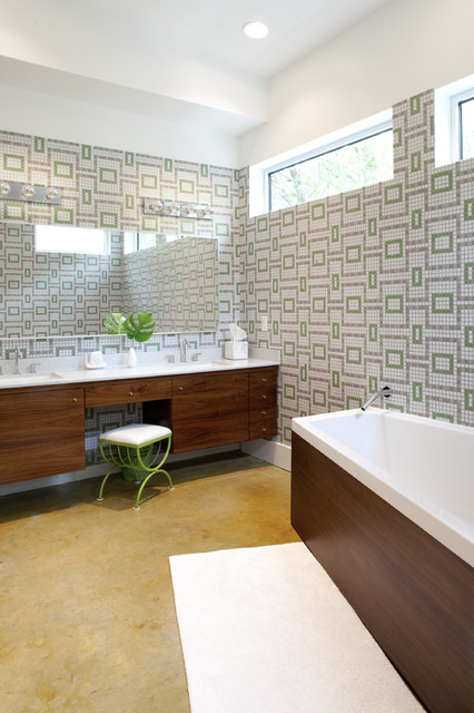 Mid Century Bathroom Remodel Images : Ad stenger remodel midcentury bathroom austin by