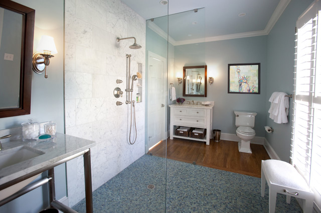 Ada girls bathroom contemporary bathroom charlotte for Ada residential bathroom layout