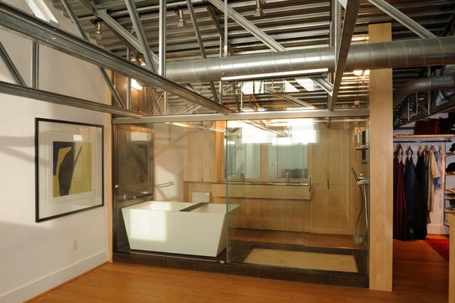 adams morgan loft apartment contemporary bathroom dc metro by wnuk spurlock architecture. Black Bedroom Furniture Sets. Home Design Ideas