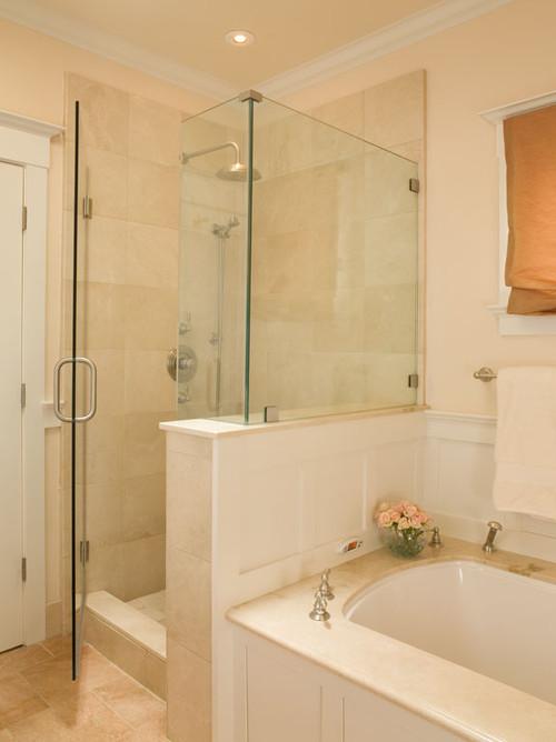 Frameless shower u channel or clamps - Bathroom design san francisco ...