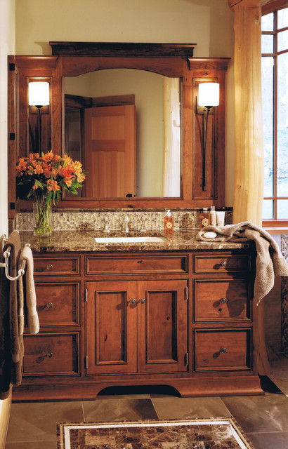 Adirondack camp rustic bathroom boston by asb for Adirondack bathroom ideas