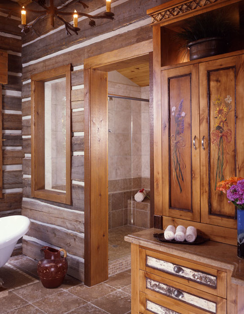 Adirondack residence crested butte traditional for Adirondack bathroom ideas