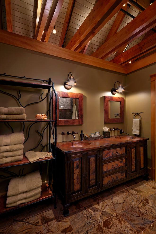 Adirondack Retreat - Rustic - Bathroom - Burlington - by ...