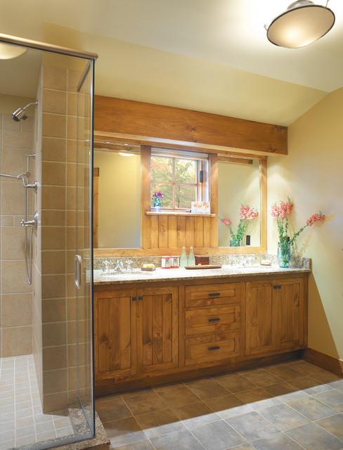 Adirondack revival traditional bathroom burlington for Adirondack bathroom design