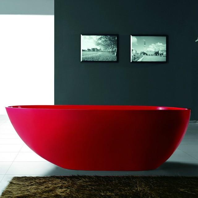 Solid Surface Stone Tub - SW-105R (73 x 33) modern-bathroom