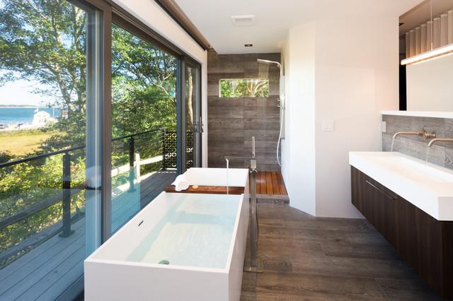 ADM Bathroom Rectangular Freestanding Bathtub, White, 66.9 ...