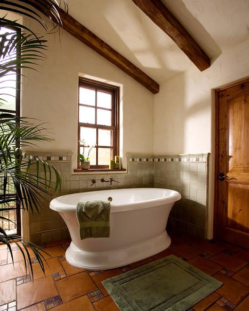 Adobe ranch for Ranch style bathroom ideas