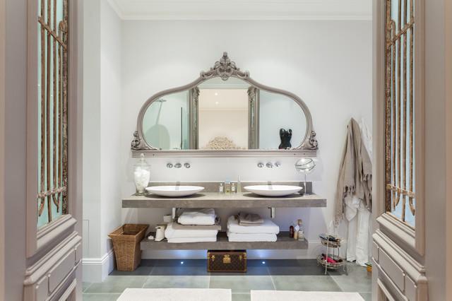 Advantage basements london transitional bathroom for Advantage basements