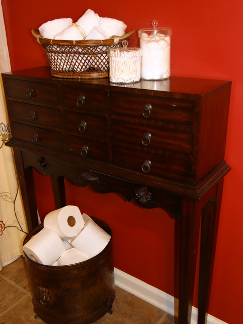 Affortable Solutions To Spruce Up A Small Guest Bathroom! traditional-bathroom