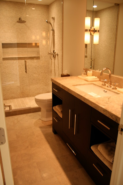 After Guest Bath Prairie Street Contemporary Bathroom Chicago By Cmr Interiors