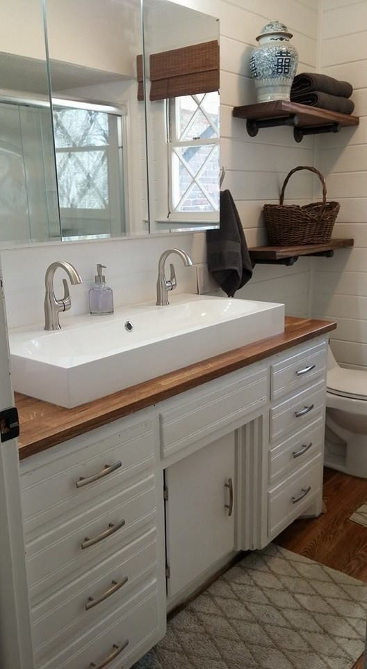 Ikea Trough Sink And Butcher Block