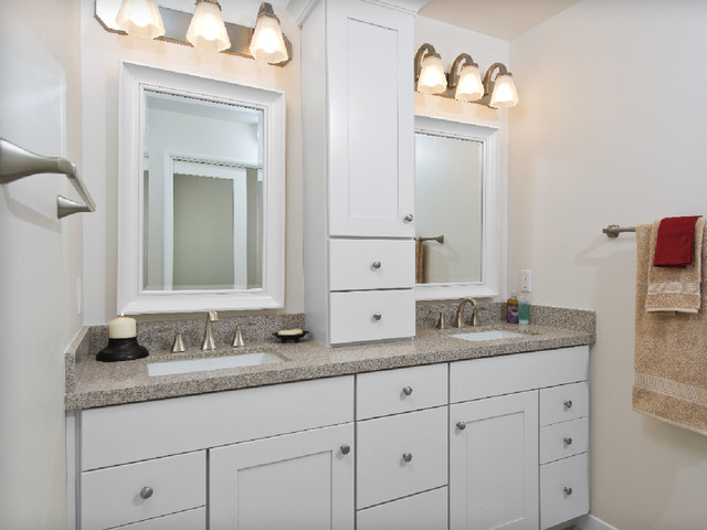 After - Kraftmaid Maple cabinetry with Putnam Style door fronts - Traditional - Bathroom ...