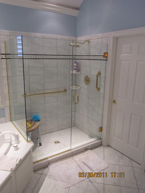 Periwinkle Master Bathroom Traditional Bathroom