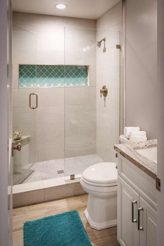 After: Removed tub and replacing with shower.