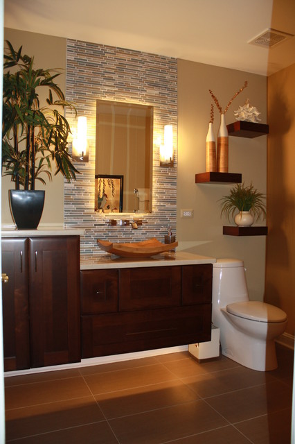 Houzz Bathroom Design Ideas ~ After vanity tropical bathroom chicago by j