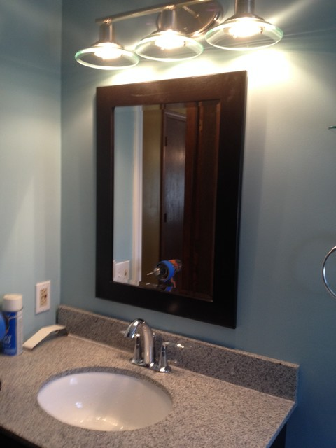 After windsor bathroom bertch cabinet and mirror allen - Traditional bathroom mirror with lights ...