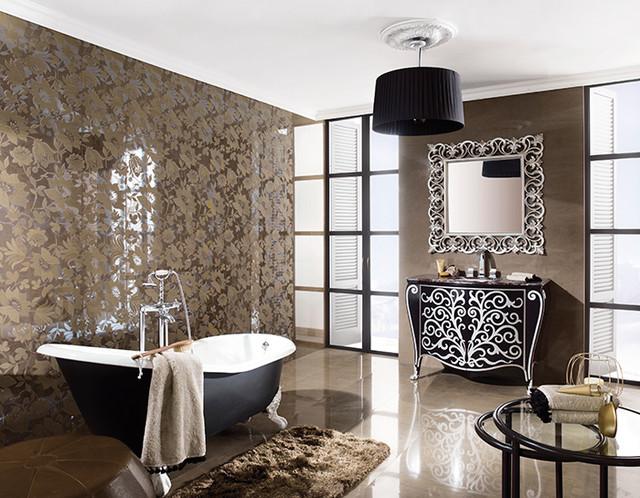 AG&M Tile traditional-bathroom