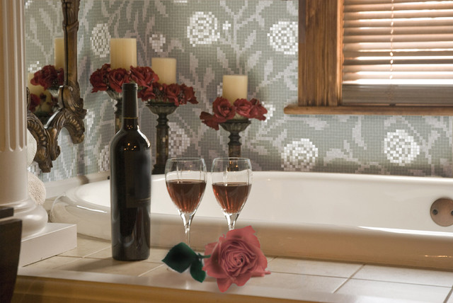 Agrestic Winter Rose Pattern contemporary-bathroom