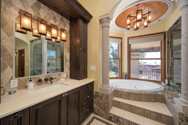 Ahwatukee Home Remodel Transitional Bathroom Phoenix By Hochuli Design Remodeling Team