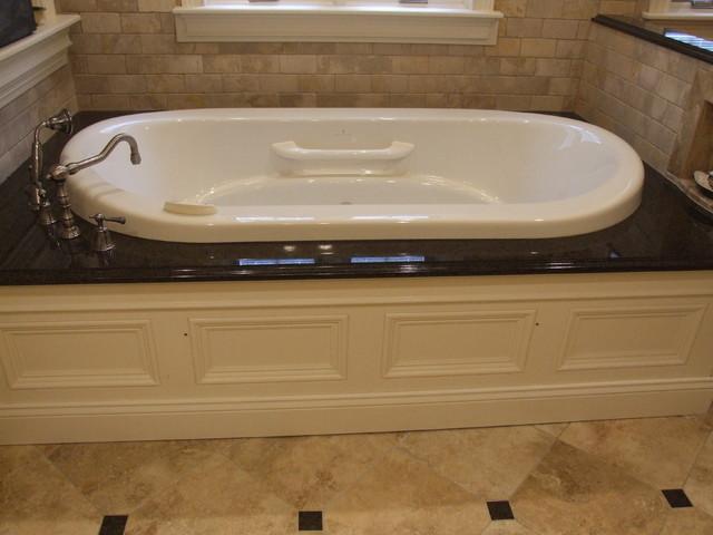Air bath tub in granite surround. - Traditional - Bathroom - New ...