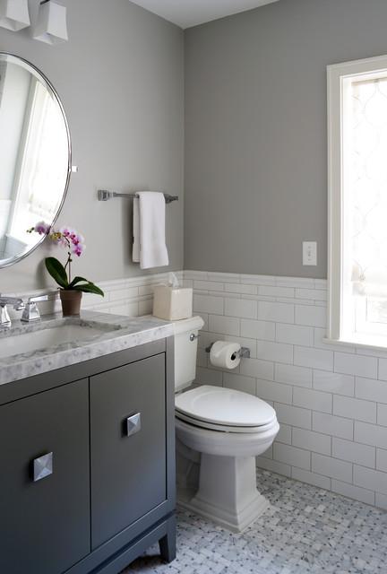 Alexandria restoration traditional bathroom dc metro for Bathroom vanities alexandria