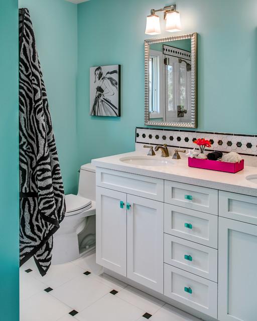 Fun Bathrooms Just Right For Teenage Girls, Teen In Bathroom