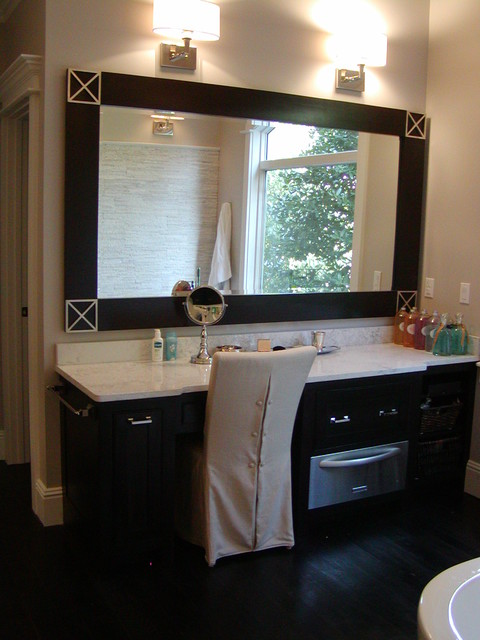 All Wood Custom Bathroom Cabinets W Towel Warming Drawer