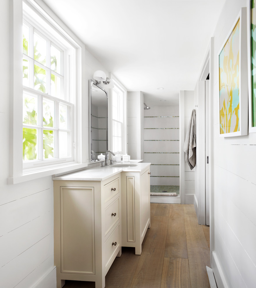 Inspiration for a coastal bathroom remodel in Other