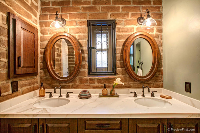 Alpine Adobe - Rustic - Bathroom - san diego - by Hamilton-Gray Design, Inc.