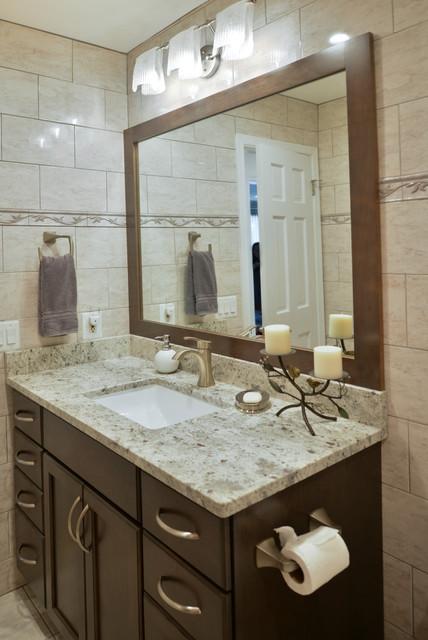 Amazing Entire Overhaul for Rambler in Arlington, Va ... on log home bathroom designs, french country bathroom designs, split level bathroom designs, farm house bathroom designs, transitional bathroom designs,