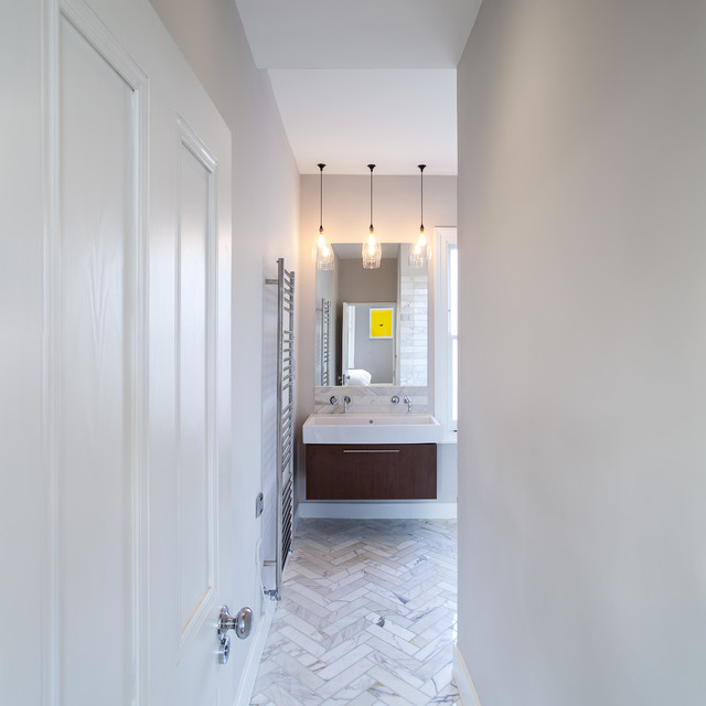 Ambler road contemporary bathroom london by mailen Bathroom design company london