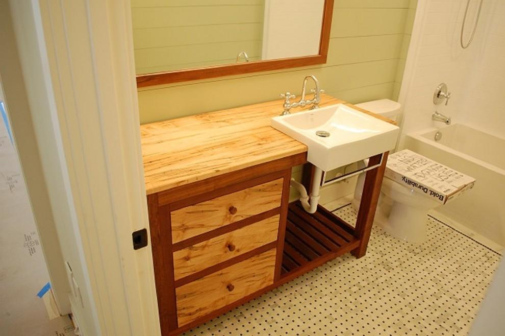 Ambrosia Maple/Walnut Accent Bathroom Vanity - Rustic ...