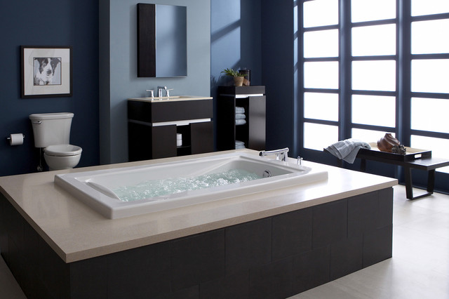 American standard serene escape suite contemporary for Deep built in bathtubs