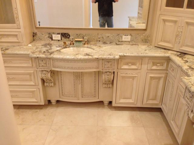 Amish Cabinets of Texas  White Bathroom contemporarybathroom