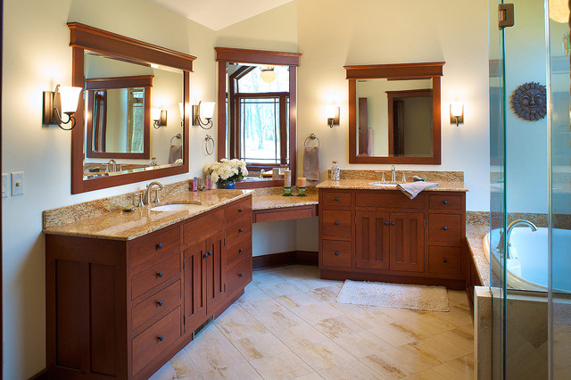 traditional bathroom by Mullet Cabinet